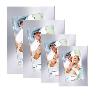 Silverstar Diagonal Silver Photo Frame | Stands or Hangs | Silver Finish