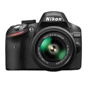 Nikon D3200 Black Digital SLR Camera and 18-55mm VR II Lens Kit