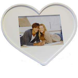 Giulia White Heart 8x6 Photo Frame