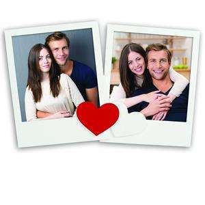 Irina Heart 4x4 Double Photo Frame