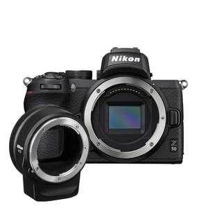 Nikon Z 50 | FTZ Mount Adapter Kit | 20.9 MP | APS-C CMOS Sensor | 4K Video