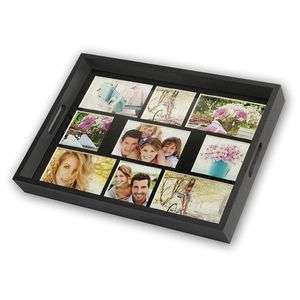 Wooden Photo Tray for 9 Photographs