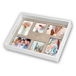ZEP Wooden Photo Tray for 6 Different Sized Photos