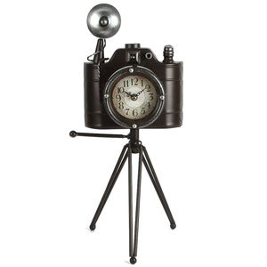 Camera on Tripod Clock, Vintage, Quartz Clock, Height 49cm