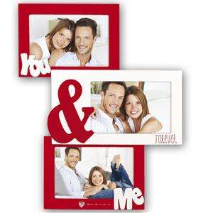 Lucy You and Me Red Multi Aperture Photo Frame for 3 Photos