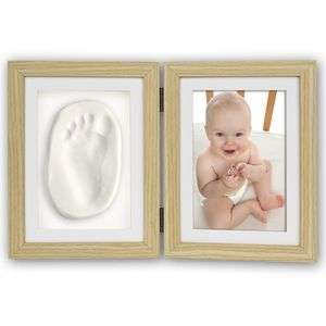 Baby Foot or Hand Impression Moulding Kit Beech 6x4 Photo Frame