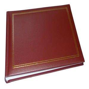 Walther Monza Red Traditional Photo Album - 60 Sides
