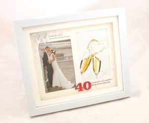 Ruby Wedding Anniversary Double Photo Frame