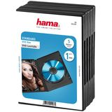 Hama Standard DVD Jewel Case Pack of 5 Black