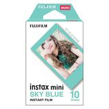 Fujifilm Instax Mini Sky Blue Border Instant Film - 10 Photos