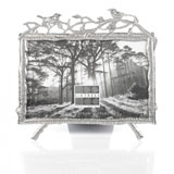 Sixtrees Hawthorn Antique Silver 6x4 Inch Photo Frame with Decorative Birds
