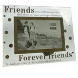 Sixtrees Forever Friends Glass and Mirror 6x4 Photo Frame