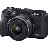 Canon EOS M6 Mark II | 15-45mm STM Lens | EVF-DC2 Viewfinder | 32.5 MP | APS-C CMOS Sensor | 4K