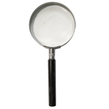 Dorr Medium Metal Hand Held Magnifier 4X Magnification Overall Size 6x15.5cm