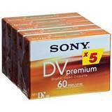 Sony 5DVM60PR4 Mini DV Premium Camcorder Tape - Pack of 5