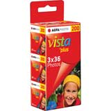 AgfaPhoto Vista Plus ISO 200 36 Exp 35mm Colour Print Film - 3 Pack