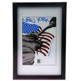 New York Black 12x8 Photo Frame