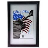 New York Black 16x12 Photo Frame