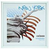 New York White 4x4 Square Photo Frame