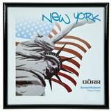New York Black 8x8 Square Photo Frame