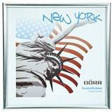 New York Silver 8x8 Square Photo Frame