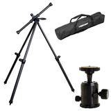 Benbo Classic 1 Aluminium Tripod Kit with Pro Ball Head and Bag | 157CM Max. Height | 3.4KG Weight