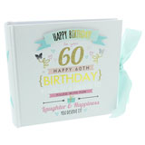 60th Birthday 6x4 Slip In Photo Album 80 Photos Overall Size 7 Inch Square