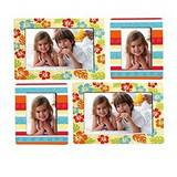 Sticky Photo Frame for 4 Photos - Flowers