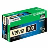 Fujifilm Velvia 100 120 Colour Slide Roll Film Pack of 5
