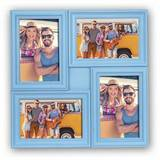 Minorca Blue Multi Aperture Photo Frame For 4 6x4 Photos