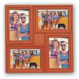 Minorca Orange Multi Aperture Photo Frame For 4 6x4 Photos
