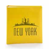 Yellow New York Photo Album, 6x4 Slip In, Holds 200 Photos, Memo Area