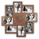 Padova Wood Photo Frame and Clock for 8 6x4 Photos