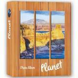 Planet Orange 7.5x5 Slip In Photo Album 200 Photos Overall Size 11x10.75