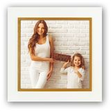 Este Square 8x8 Wood Photo Frame Overall Size 10.5 Inch Square