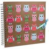 Owl Scrap Book Photo Album 10x10 Inch Pages - 25 Sides