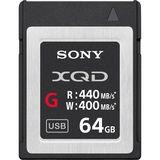 Sony G Series 64GB XQD Memory Card | Read 440MB/s | Write 400MB/s | 4K Video