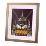Kenro Senator Wood A3 Steel Finish Photo Frame with A4 Photo Insert