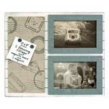 Alizee Wood Photo Frame & Magnetic Board for 2 5.5x3.5