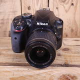 Used Nikon D3300 Black DSLR Camera with AF-P 18-55mm Lens