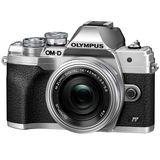 Olympus OMD EM10 Mark IV Camera with 14-42mm EZ Lens - Silver