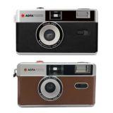 AGFA Reusable Film Camera, 35mm, Focus Free Lens, Black or Brown