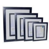 Ambassador Black Wood Photo Frame | Glass Front | High Quality Wood