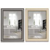 Paros Wooden Photo Frames | Grey or Beige | Glass Front | Genuine Wood