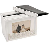 Amore Mr and Mrs Wooden Photo Box - 80 Photos 7x5 Photo Frame