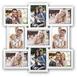 Santander White Multi Aperture Photo Frame For 9 7x5 Photos